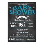 Chalkboard Mustache Baby Shower Invitation