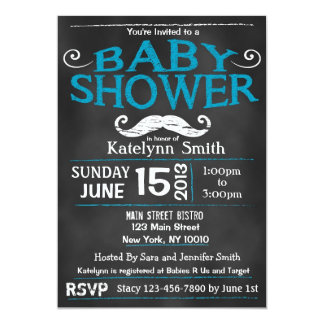 mustache baby shower invitations & announcements | zazzle, Baby shower invitations