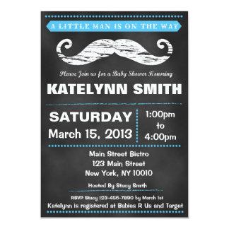 Chalkboard Mustache Baby Shower Invite
