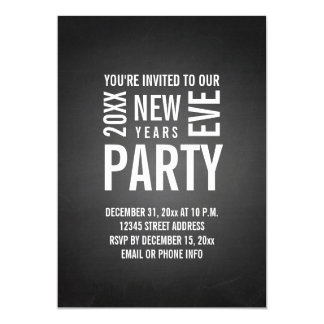 Chalkboard New Years Eve Party Invite