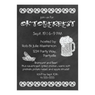 Chalkboard Oktoberfest Invitation
