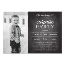 Chalkboard | Old & New Photo Surprise Birthday Card