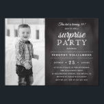 "Chalkboard | Old &amp; New Photo Surprise Birthday Invitation<br><div class=""desc"">Create your own &quot;Chalkboard 