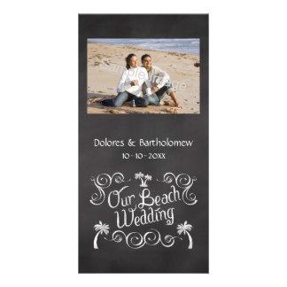 Chalkboard Our Beach Wedding Card
