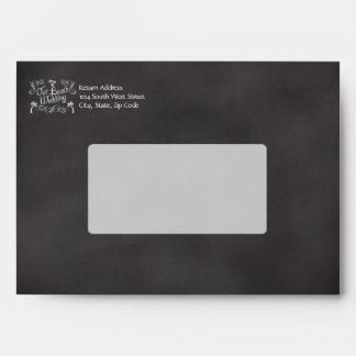 Chalkboard Our Beach Wedding Envelope
