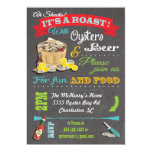 Chalkboard Oyster Roast Party Invitations