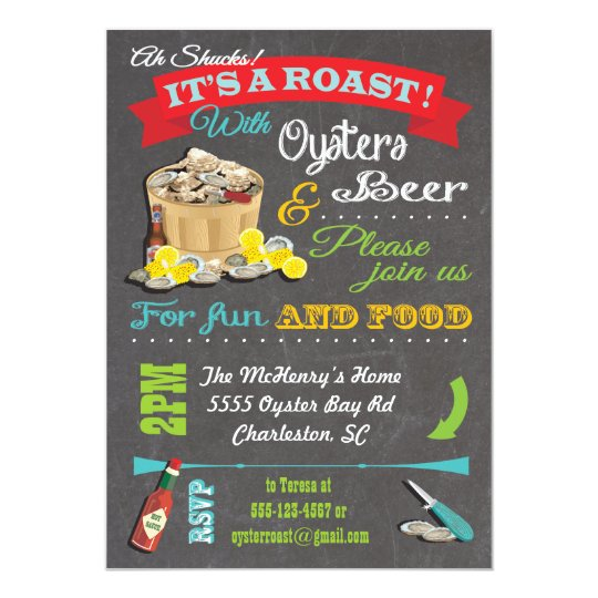 Oyster Roast Invitations is best invitation template