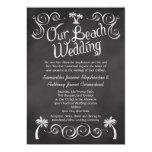 Chalkboard Palm Tree Beach Wedding Card