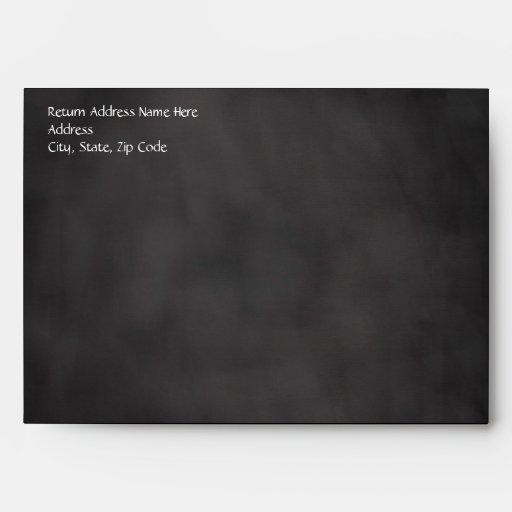 Chalkboard Palm Tree Beach Wedding Envelopes