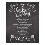 Chalkboard Palm Tree Beach Wedding Insert Full Color Flyer