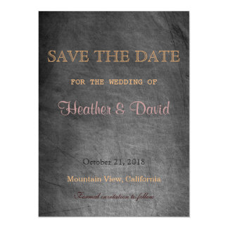 Chalkboard Pattern Save Date Wedding Invitation