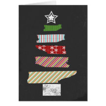 Chalkboard Patterned (faux) Tape Christmas Card