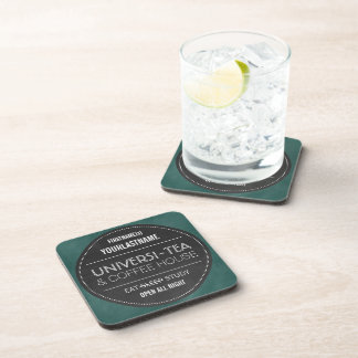 Chalkboard Personalized for University Student Beverage Coaster