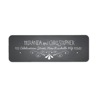 Chalkboard Personalized Return Address Labels