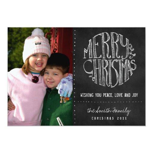 Chalkboard Photo Christmas Card