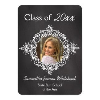 Chalkboard Photo Frame Deco High School Graduation Card