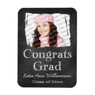 Chalkboard Photo Graduation Magnet