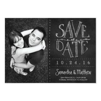 Chalkboard Photo Save the Date 5x7 Paper Invitation Card