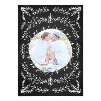 "Chalkboard Photo Wedding Save the Date Card 5"" X 7"" Invitation Card"