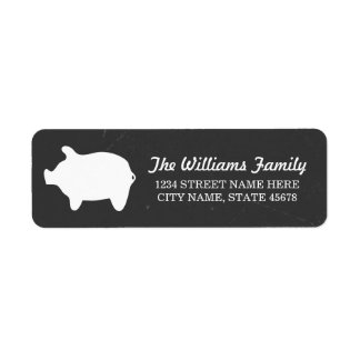 Chalkboard Piggie Address Labels
