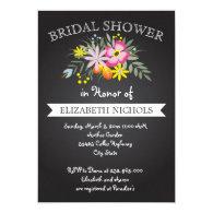 Chalkboard pink flowers wedding bridal shower 5