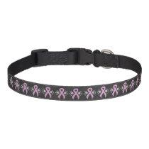 Chalkboard Pink Ribbon Pet Collar