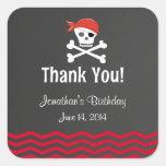 Chalkboard Pirate Birthday Stickers