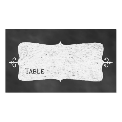 Chalkboard Place Card Business Card Templates