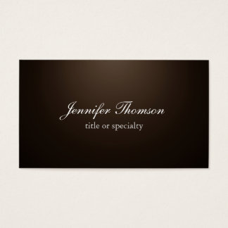 Chalkboard Plain Sepia Brown Classical Handwriting Business Card