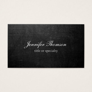 Chalkboard Plain Simple Grey Classical Handwriting Business Card