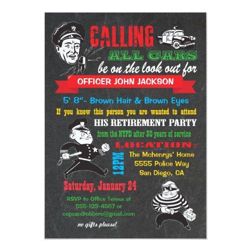 Popular 25 Police Retirement Invitations Popular Invitation