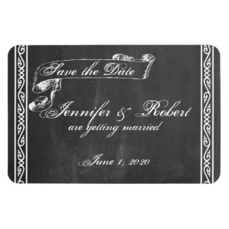 Chalkboard Posh Wedding Save the Date Magnet