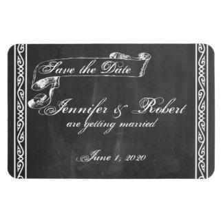 Chalkboard Posh Wedding Save the Date Rectangular Magnets