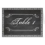 Chalkboard Posh Wedding Table Number Card