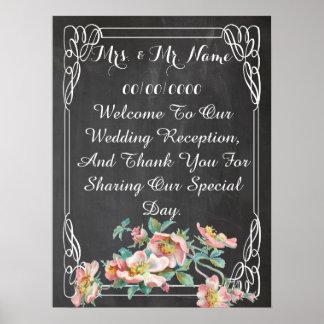 chalkboard poster ,wedding poster