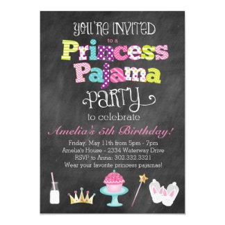 Chalkboard Princess Pajama Party Invitation