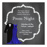 Prom night invitations announcements zazzle chalkboard prom stopboris Image collections
