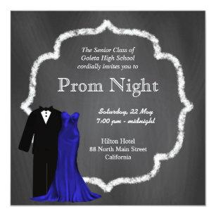 High school prom night invitations announcements zazzle chalkboard prom card stopboris Choice Image