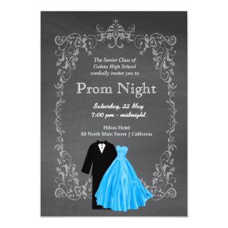 Prom night invitations announcements zazzle chalkboard prom card stopboris Gallery