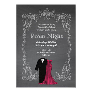 Nice Chalkboard Prom Card And Prom Invitation Templates