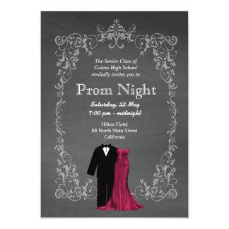 Chalkboard Prom 5x7 Paper Invitation Card