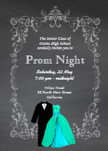 chalkboard prom invitation