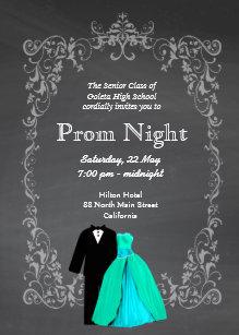 chalkboard prom invitation