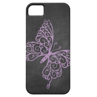 Chalkboard Purple Butterfly iPhone 5 Case-Mate ID