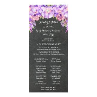 Chalkboard Purple Lavender Floral Wedding Program