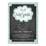 Chalkboard Raindrop Baby Sprinkle Invitation