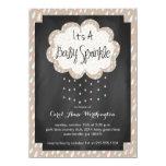 "Chalkboard Raindrop Baby Sprinkle Invitation 4.5"" X 6.25"" Invitation Card"