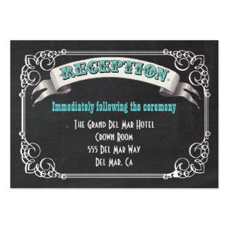 Chalkboard Reception Enclosure Card Insert Large Business Cards (Pack Of 100)