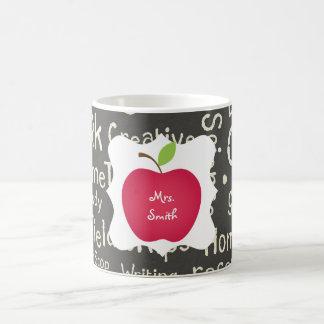 Chalkboard- Red Apple Teacher's Coffee Mug