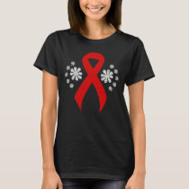 Chalkboard Red Awareness Ribbon T-Shirt